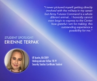 Student Spotlight: Undergraduate Fellow Erienne Terpak interns with Army Futures Command